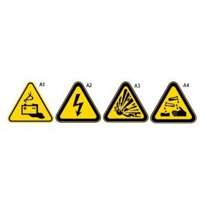 Znak ostrz.gw023 substancje żrące