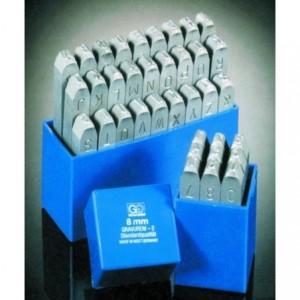 Znaczniki stemple literowe Standard 8 mm Litery wielkie odbicie lustrzane