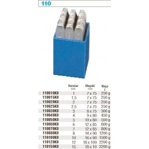 Kpl.znaczników extra cyfry 8mm Beta 110080K0