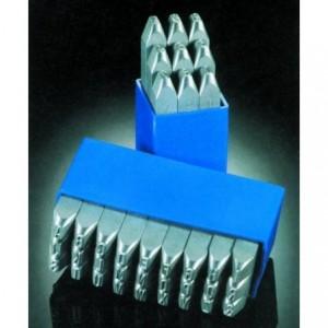 Znaczniki stemple literowe Special 12 mm Litery małe odbicie lustrzane