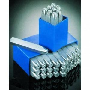 Znaczniki stemple literowe Typ T 6 mm Litery wielkie odbicie lustrzane
