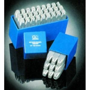 Znaczniki stemple literowe Typ RP 2 mm Litery wielkie kropkowane