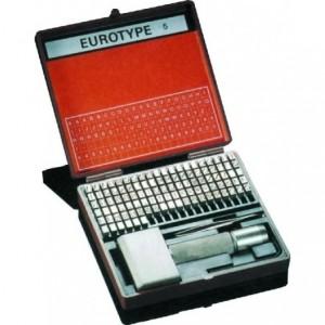 Zestaw czcionek eurotype 1 mm Beta 16501000