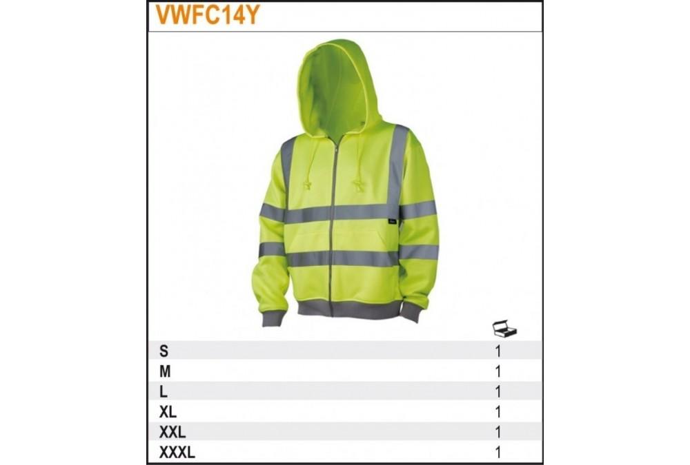 Bluza ostrzegawcza z kapturem żółta xl Beta VWFC14YXL