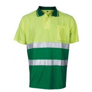 Polo ostrz.contrast żółto-ziel.xl Beta VWPS13YG/XL