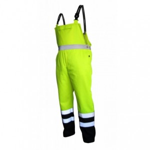 Spodnie na szelkach ostrzegawcze żółto-gran.xl Beta VWTC08-BYN/XL