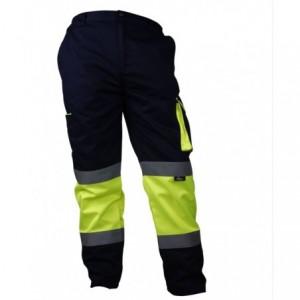 Spodnie robocze ostrzegawcze contrast żółt-gran.xl Beta VWTC17YN/XL