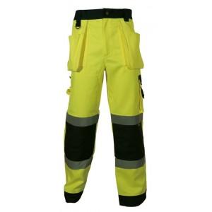 Spodnie robocze ostrzeg.żółto-granat. s Beta VWTC64-BYN/S
