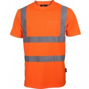 Koszulka t-shirt ostrz.z pasami naram.pom. m Beta VWTS03-BO/M