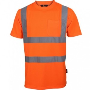 Koszulka t-shirt ostrz.z pasami naram.pom. xxxl Beta VWTS03-BO/XXXL