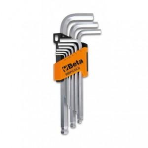 Komplet kluczy trzpieniowych kątowych sześciokątnych 96bpc 1,5-10mm 9 sztuk w uchwycie...