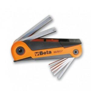 Komplet kluczy trzpieniowych sześciokątnych 2,5-10mm 7 sztuk w rękojeści Beta 96/BG7