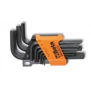 Komplet kluczy trzpieniowych kątowych sześciokątnych 96n 1,5-10mm 9 sztuk w uchwycie z...