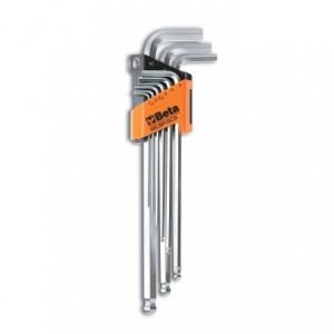 Komplet kluczy trzpieniowych kątowych sześciokątnych z kulistą końcówką długich 96lbp...