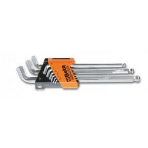 Komplet kluczy trzpieniowych kątowych sześciokątnych z kulistą końcówką 96bpa 1,5-10mm...