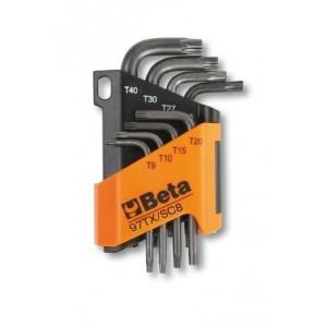 Komplet kluczy trzpieniowych kątowych profil torx 97tx t9 - t40 8 sztuk w uchwycie z...