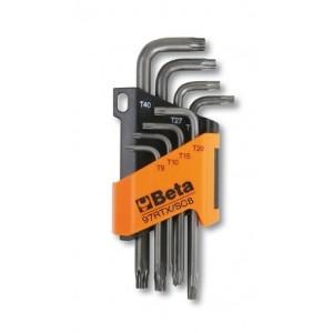 Komplet kluczy trzpieniowych kątowych profil tamper resistant torx 97rtx t9 - t40 8...