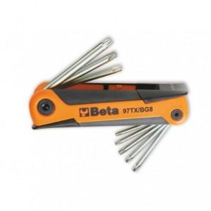 Komplet kluczy trzpieniowych profil torx t9 - t40 8 sztuk w rękojeści Beta 97TX/BG8