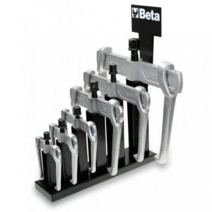 Komplet ściągaczy dwuramiennych 1500n 1500n/0-1500n/5 6 sztuk na stojaku metalowym Beta...